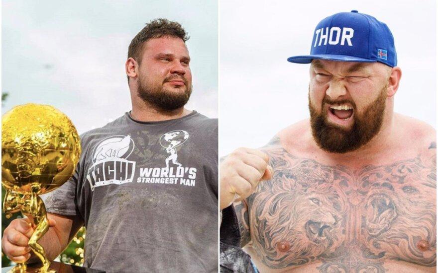Martinas Licis (kairėje), Hafthoras Bjornssonas (Foto: Instagram)