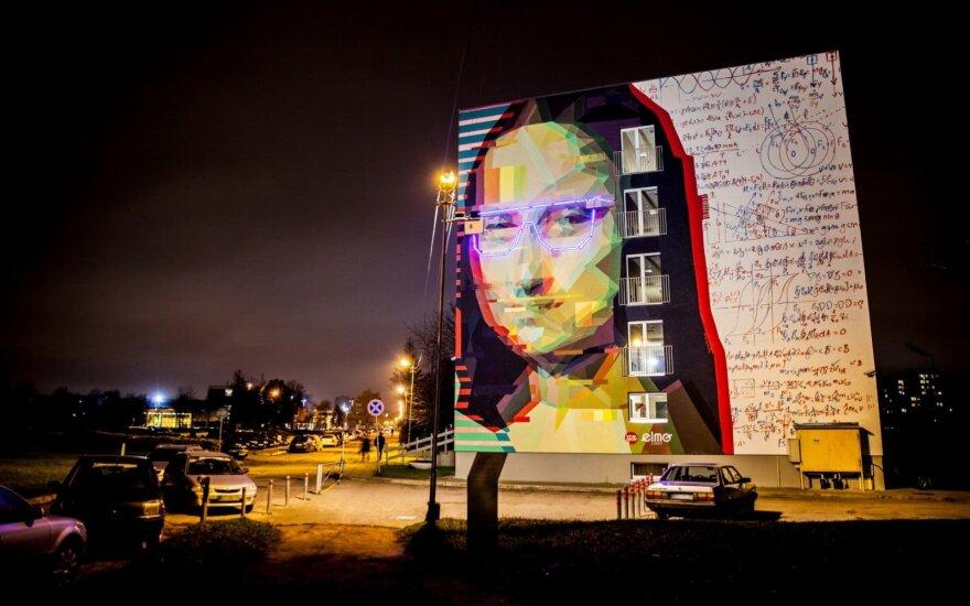 KTU studentų sukurta interaktyvi Mona Lisa su besikeičiančia akinių spalva.