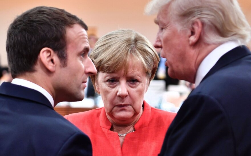 Emmanuelis Macronas, Angela Merkel, Donaldas Trumpas