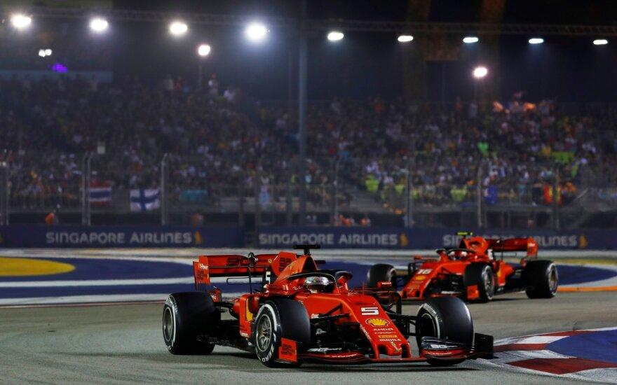 Sebastianas Vettelis ir Charlesas Leclercas
