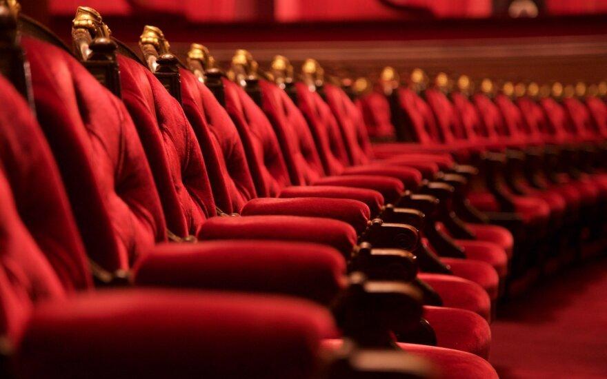 Tuščios teatro kėdės