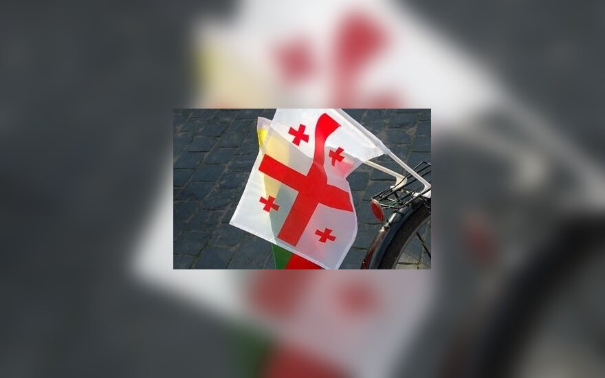 Georgian Lithuanian flags