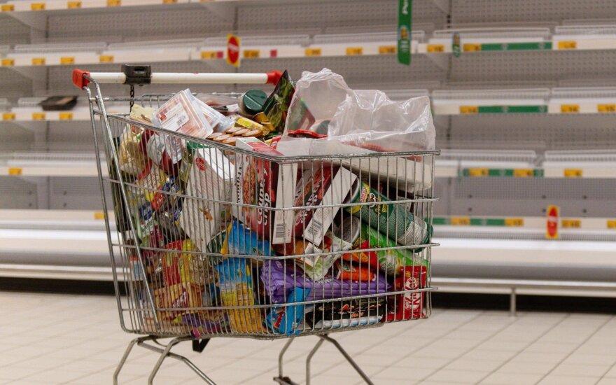 Trūkinėjant tiekimo grandinėms, didėja nerimas dėl maisto atsargų