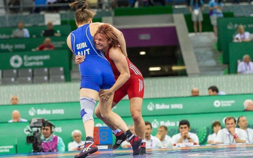 Imtynininkė G. Blekaitytė Baku kovos dėl Europos žaidynių bronzos