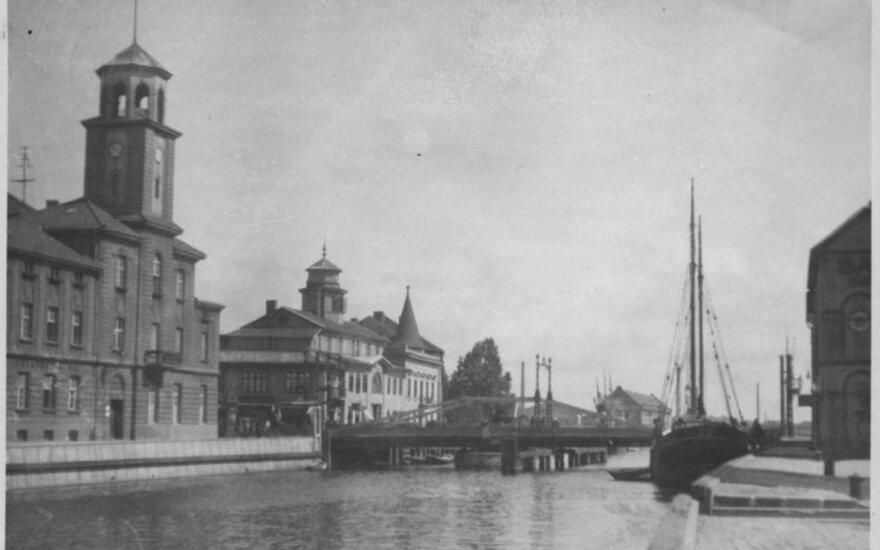 Klaipėda. Dangės dešinioji krantinė ir Biržos tiltas, XX.  3 dešimtmetis