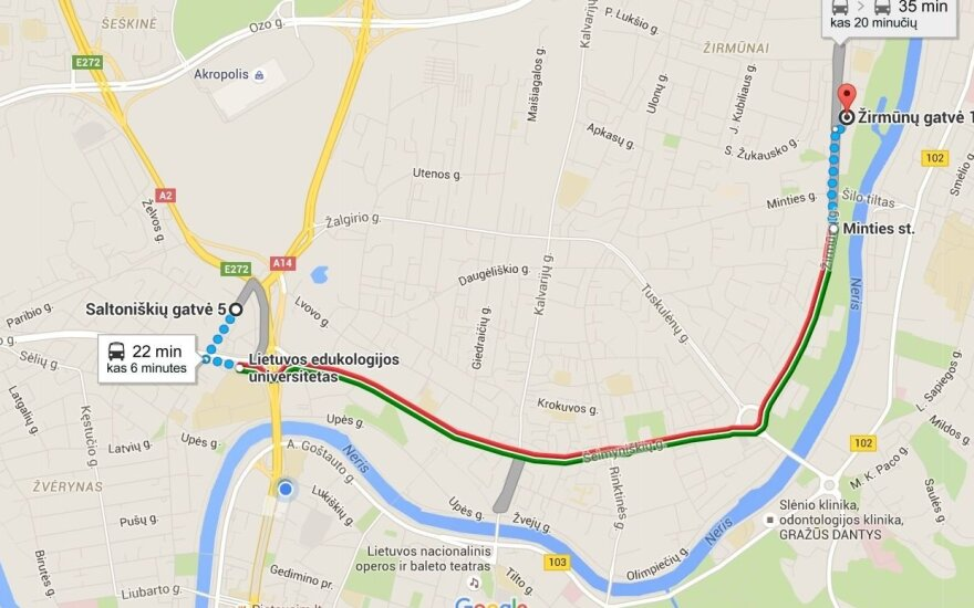 Maps Google.Viesojo Transporto Tvarkarasciai Jau Ir Google Maps Delfi Mokslas