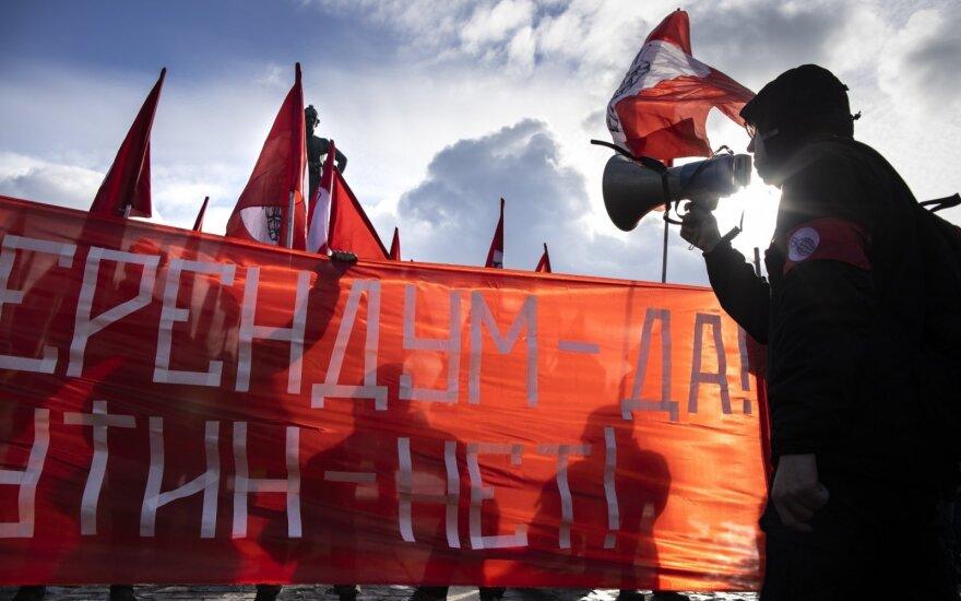 Rusijoje vyko protestai prieš V. Putino konstitucijos reformą
