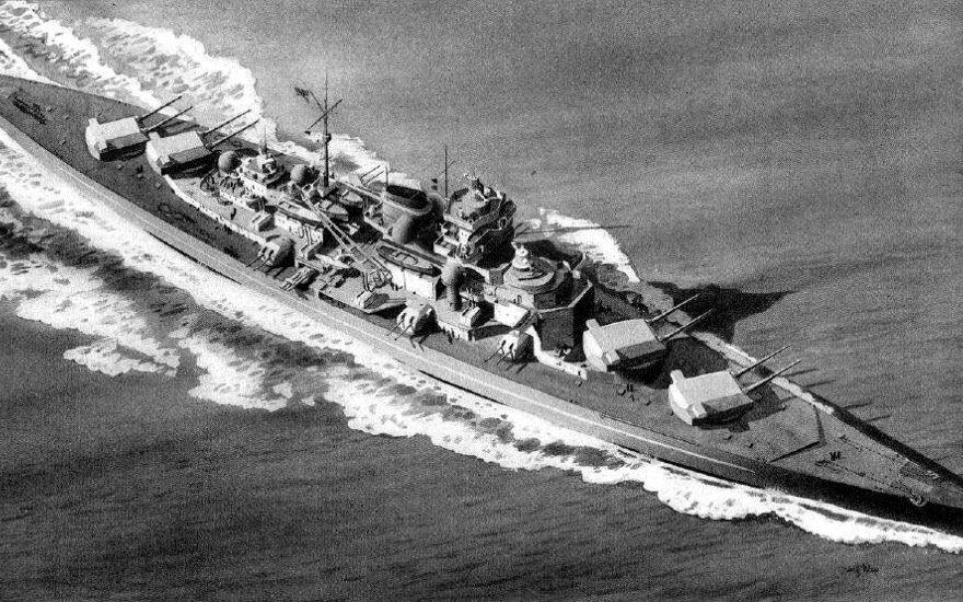 """Nacių laivas """"Tirpitz"""""""