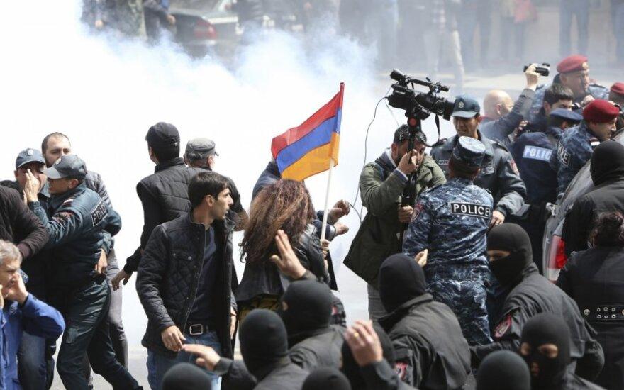 Protestas Jerevano centre