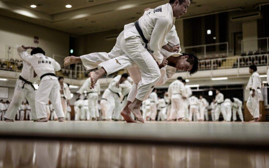 Dziudo treniruotė Japonijoje