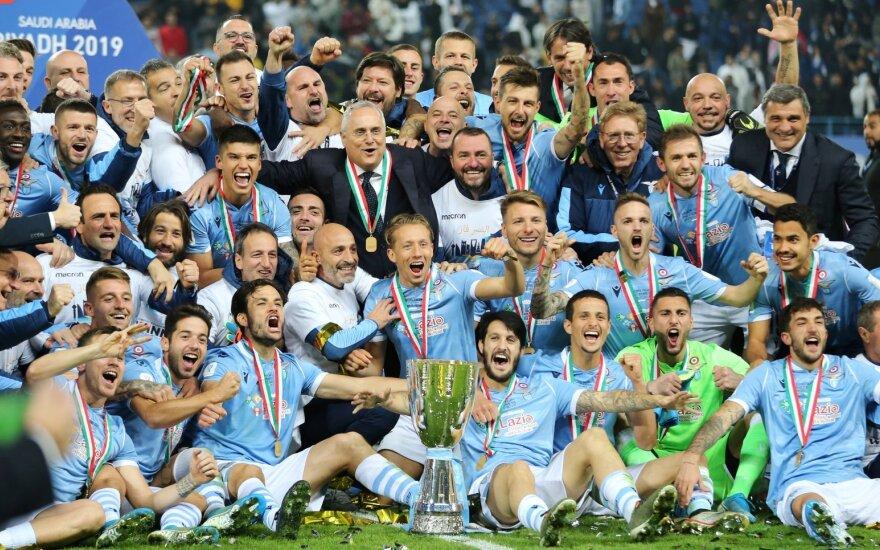 """Italijos Supertaurės laimėtoja Romos """"Lazio"""""""