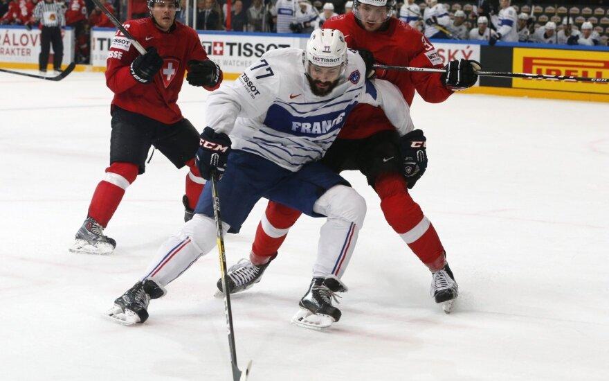 Pasaulio ledo ritulio čempionatas: Šveicarija – Prancūzija