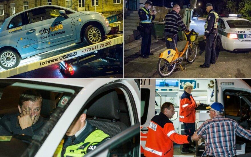 Naktį Vilniuje surengtas neeilinis reidas – daugybė nubaustųjų