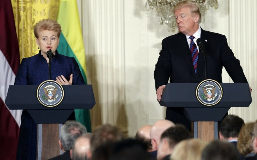 D. Trumpo ir Baltijos šalių vadovų spaudos konferencija