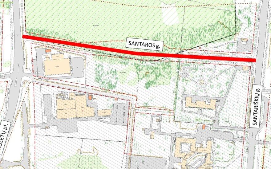 Nutiesta nauja Santaros gatvė