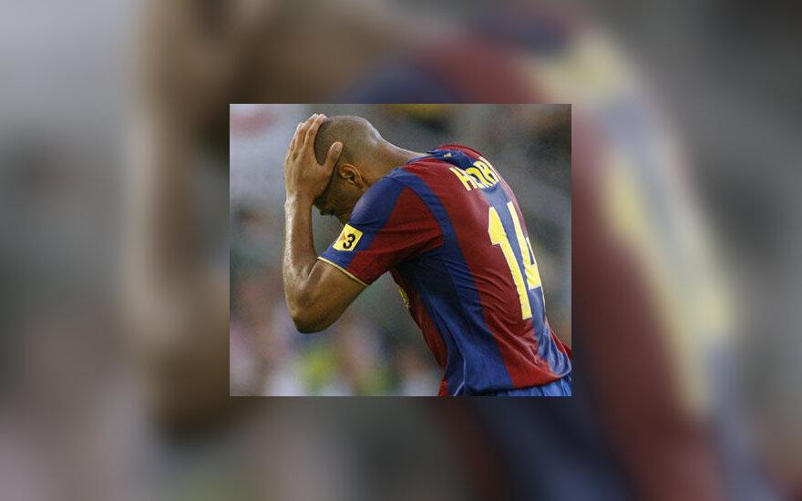 """Thierry Henry (""""FC Barcelona"""") nepataikė į vartus"""