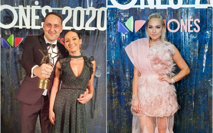 Nerijus Cesiulis su žmona ir Indrė Stonkuvienė / Foto: Instagram ir DELFI
