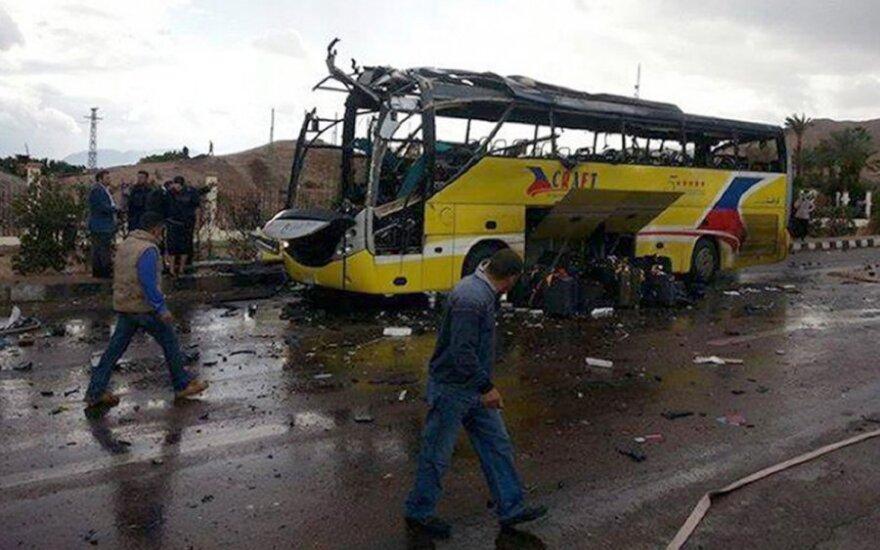 Sprogęs autobusas Egipte