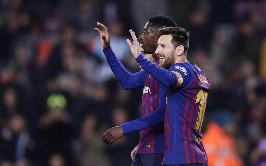 Ousmane'as Dembele ir Lionelis Messi