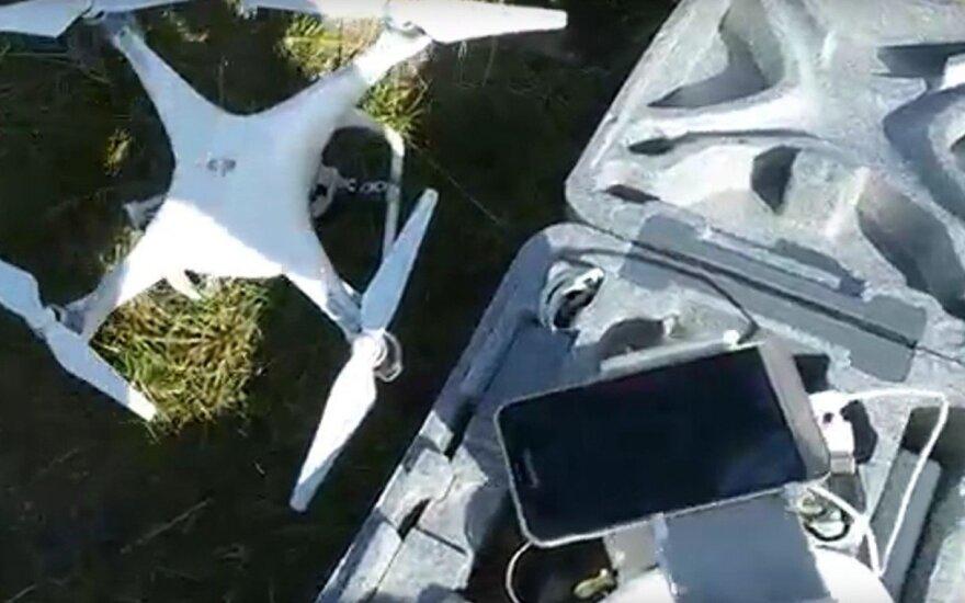 Kaliniai liko be lauktos siuntos, drono operatorius sulaikytas