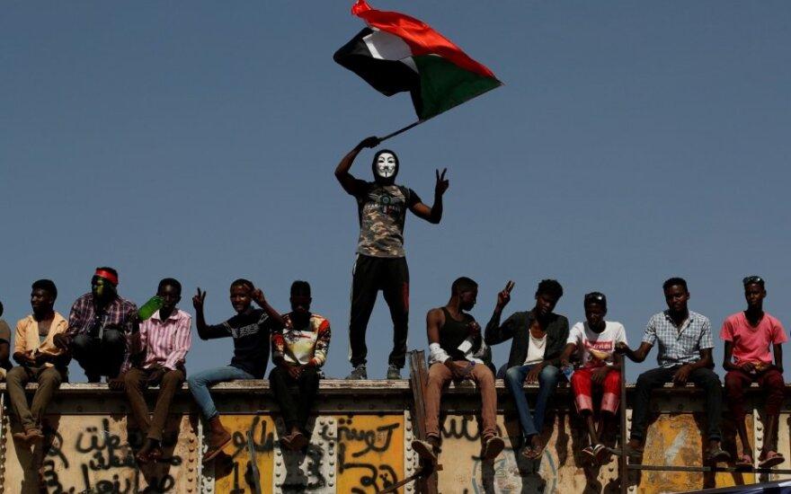 Protestuotojai Sudane