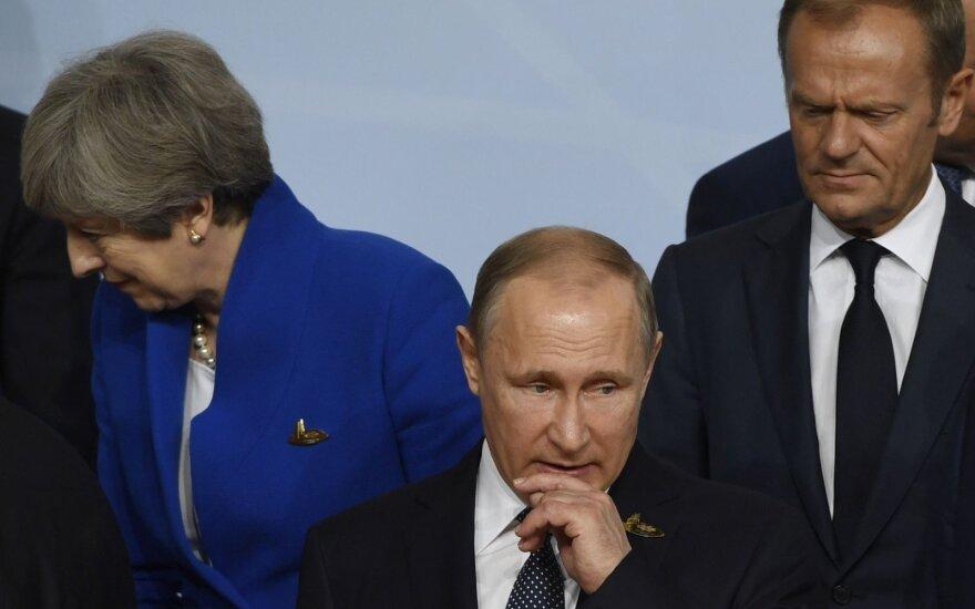 Theresa May, Vladimiras Putinas, Donaldas Tuskas