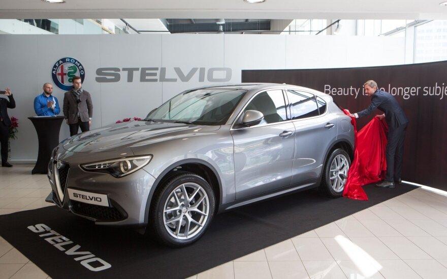 """""""Alfa Romeo Stelvio"""" automobilio pristatymas"""