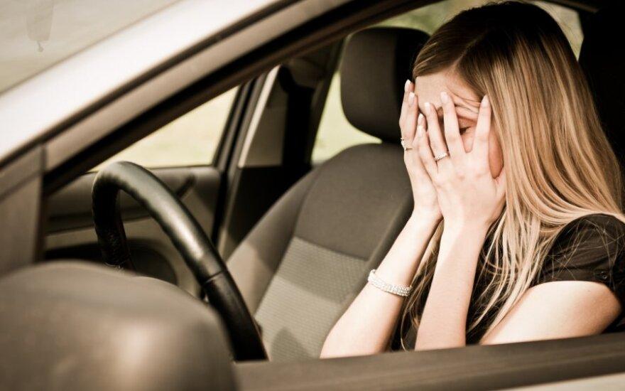 Išsigandusi vairuotoja