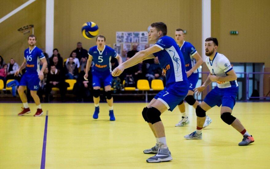 """Vilniaus kolegijos-Flamingo Volley SM Tauro"" tinklininkai"