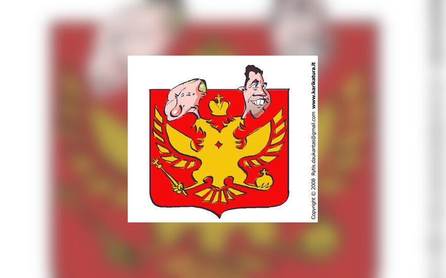 Dvigalvis Rusija Erelis Medvedevas