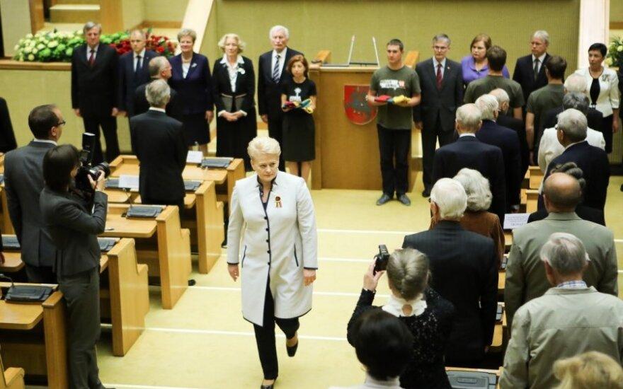 D. Grybauskaitė: yra norinčių sugriauti ir sumenkinti Lietuvą