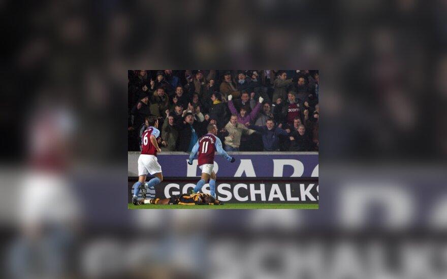 """""""Aston Villa"""" Anglijos čempionate iškovojo 11-ąją pergalę"""