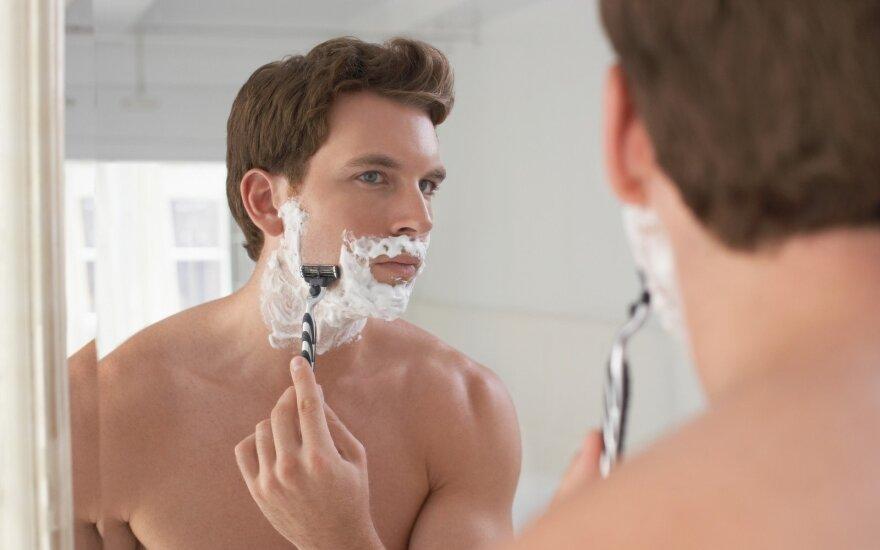 Vyrų kosmetikos krepšelyje – ne tik priemonės skutimuisi