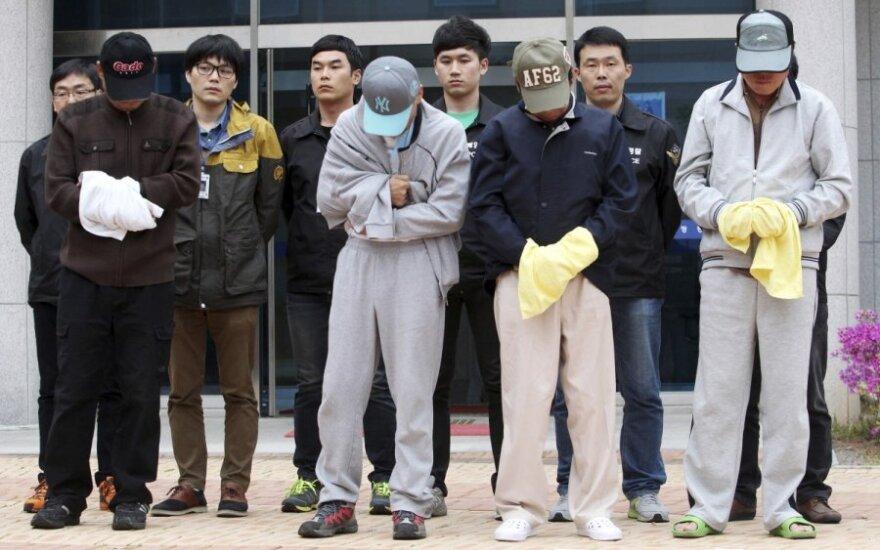 Nuskendusio Pietų Korėjos kelto įgulos nariams gresia mirties bausmės