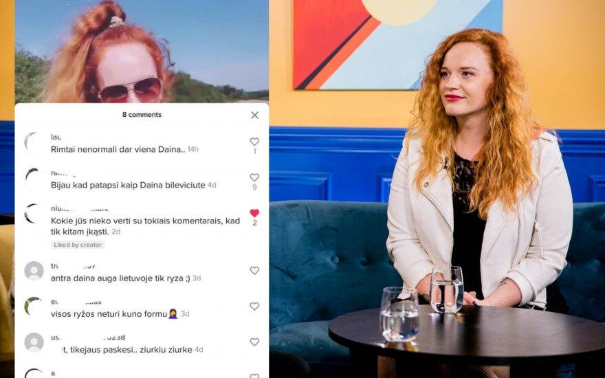 Donata Virbilaitė palygino lietuvių ir užsieniečių komentarus/ Foto: Delfi ir facebook