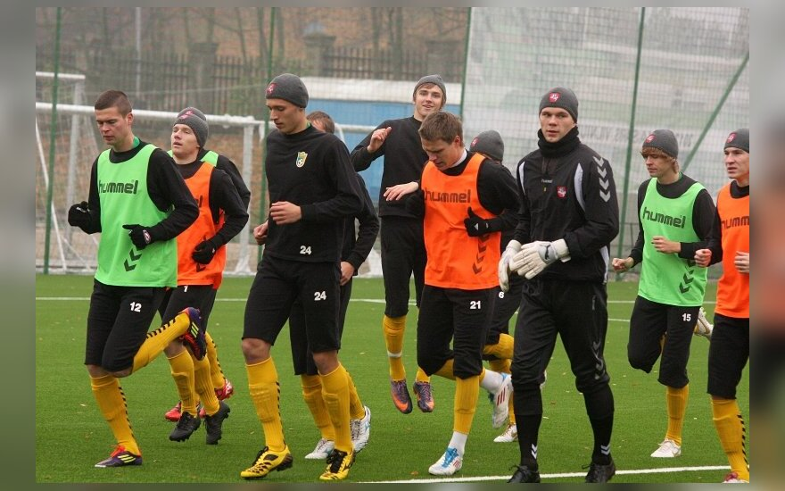 Lietuvos U21 jaunimo futbolo rinktinės treniruotė