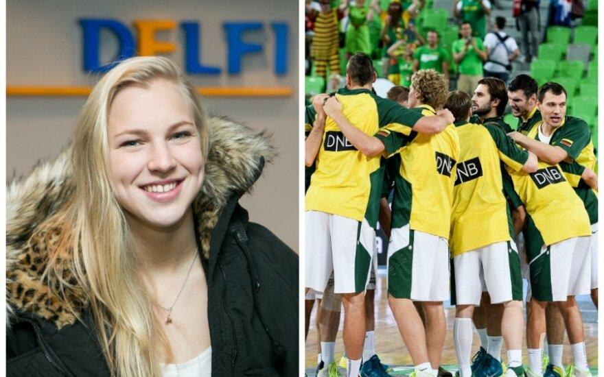 Rūta Meilutytė ir Lietuvos vyrų krepšinio rinktinė