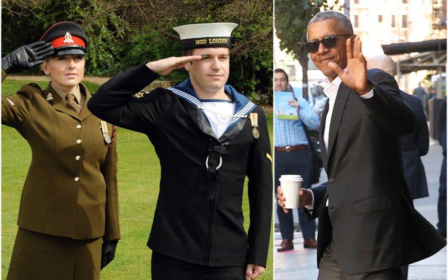 Koliažas: D. Britanijos saliutavimas / B. Obama