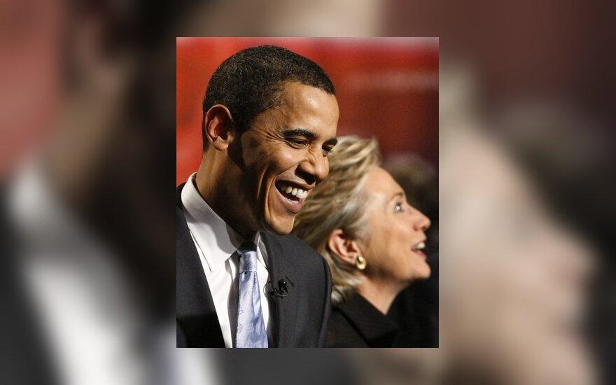H.Clinton neįsivėlė į ambicijų dvikovą su B.Obama