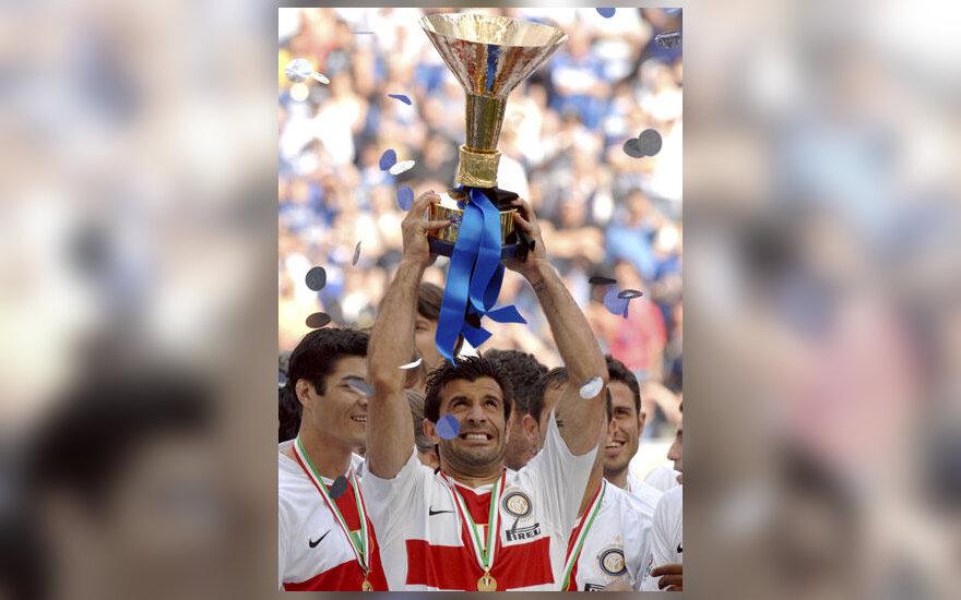 """Luis Figo (""""Inter"""") su Italijos čempionų taure"""