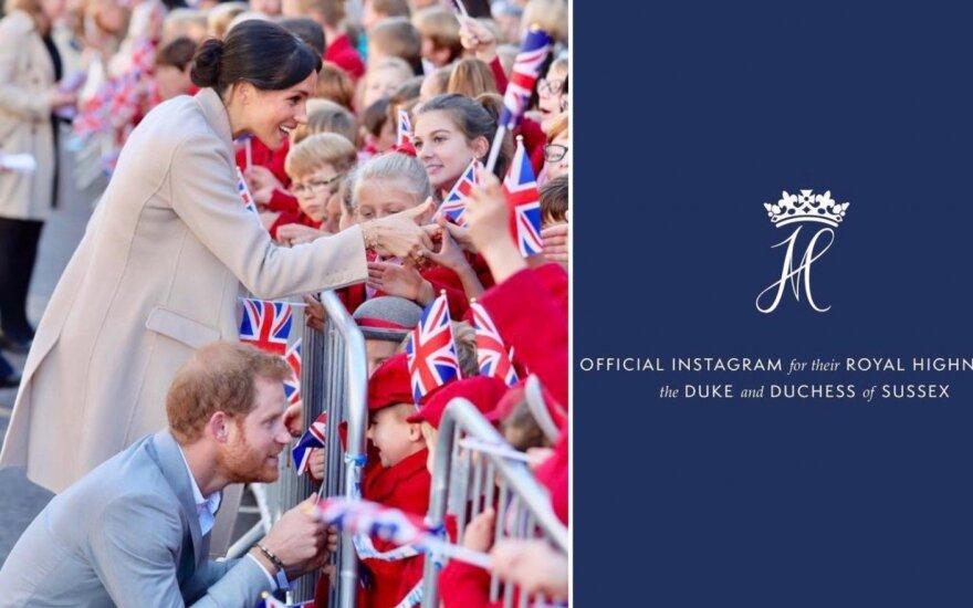 Meghan Markle ir princas Harry, jų Instagram paskyra