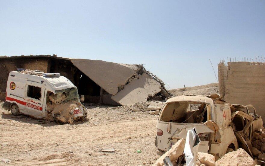 Sprogus minoms Sirijoje žuvo mažiausiai 17 žmonių