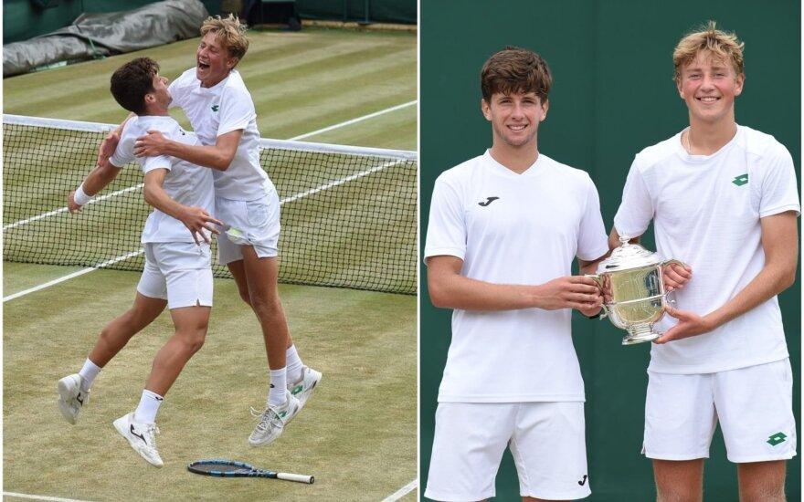 Neįtikėtina: Vimbldone – 16-mečio lietuvio triumfas jaunių dvejetų finale