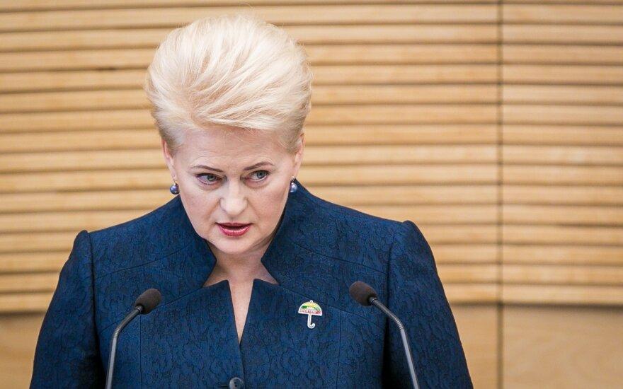 Grybauskaitė pasirašė konkurencijos įstatymų pataisas