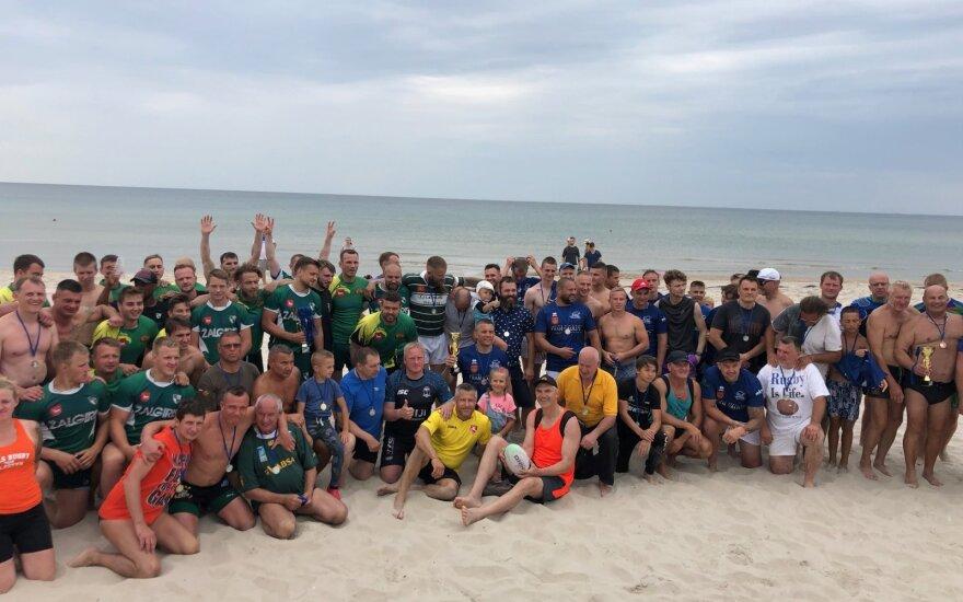 Lietuvos paplūdimio regbio čempionato akimirka (Lietuvos regbio federacija)