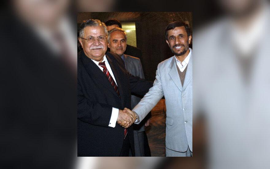 Jalalas Talabani ir Mahmoudas Ahmadinejadas