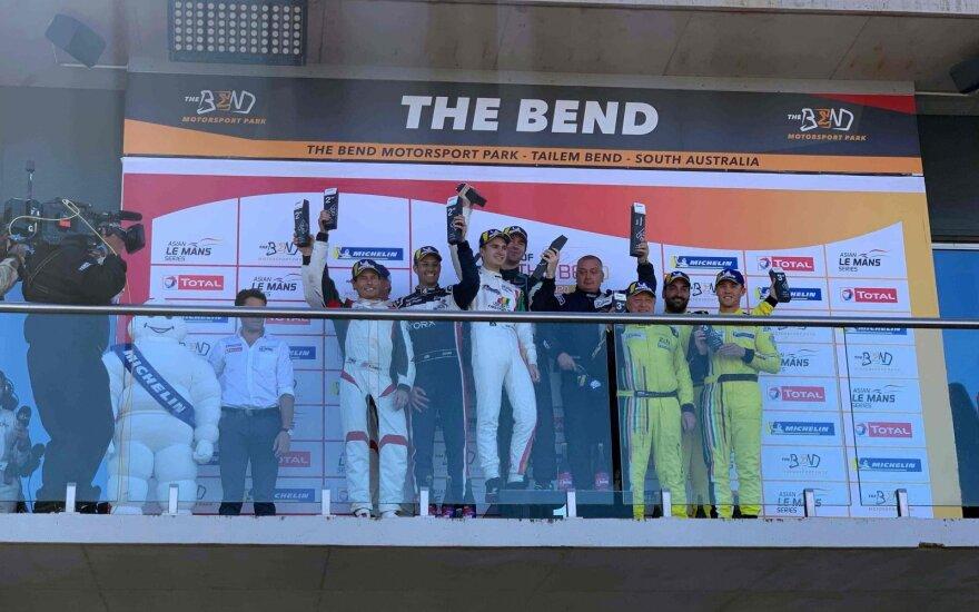 Gustas Grinbergas triumfavo lenktynėse Australijoje
