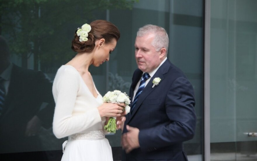 Arvydas Anušauskas su žmona Lina