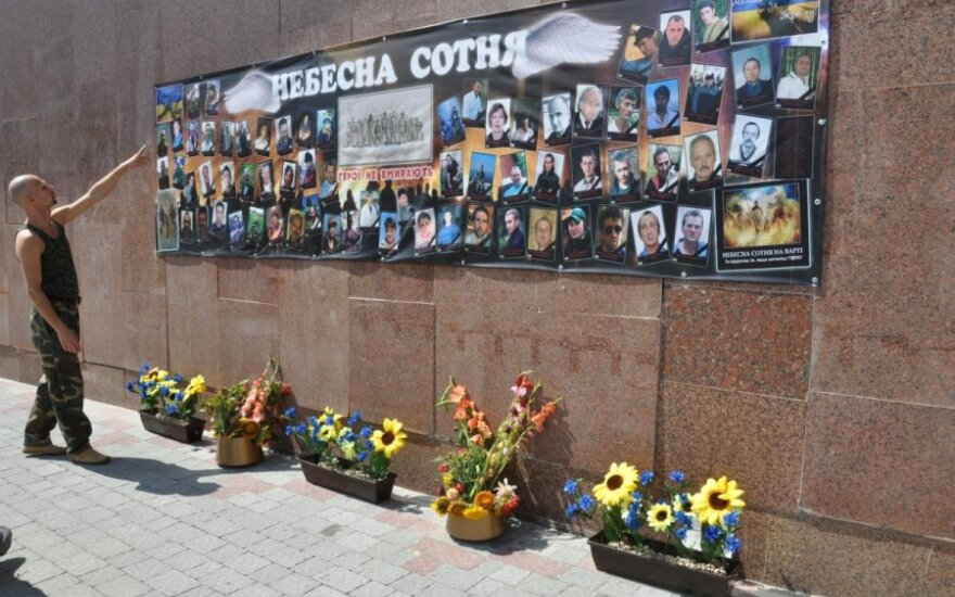 Maidane žuvusių ukrainiečių nuotraukos