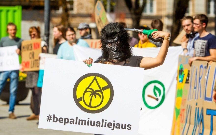 Protestas prieš palmių aliejų